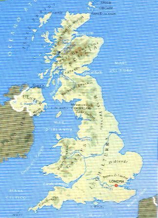 Cartina Geografica Inghilterra E Scozia.Il Territorio